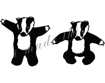 Badger Vinyl Sticker