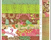 Nine (9) Pages of Card Stock Scrapbooking Paper from the Paper Studio