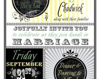 Vintage-Inspired Wedding Invite