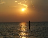 Sunset Over Gulf, 11x14 Aluminum Print, Army Veteran, Limited Edition