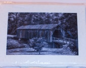 Greeting Cards, Thank You Notes,  Covered Bridge, Army Veteran
