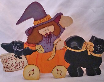 Halloween wooden plaque decoration