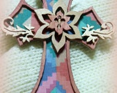 Cross Wood Ornament