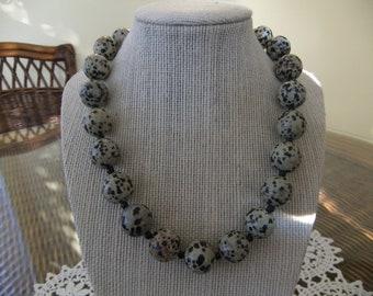 Dalmatian Jasper Beaded Necklace