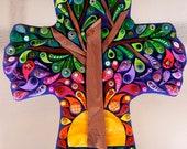 Reserved for Elizabeth Embellished Tree of Life Cross Savior Resurrection John 3:16 Hand crafted custom made OOAK