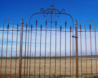Ornate Wrought Iron Gate that works with our 4' Tall Interlocking Fence