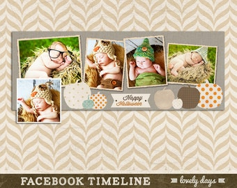 Halloween Facebook timeline cover photoshop template