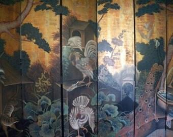 Six panel, 7 foot high, 96 inch wide Oriental Screen
