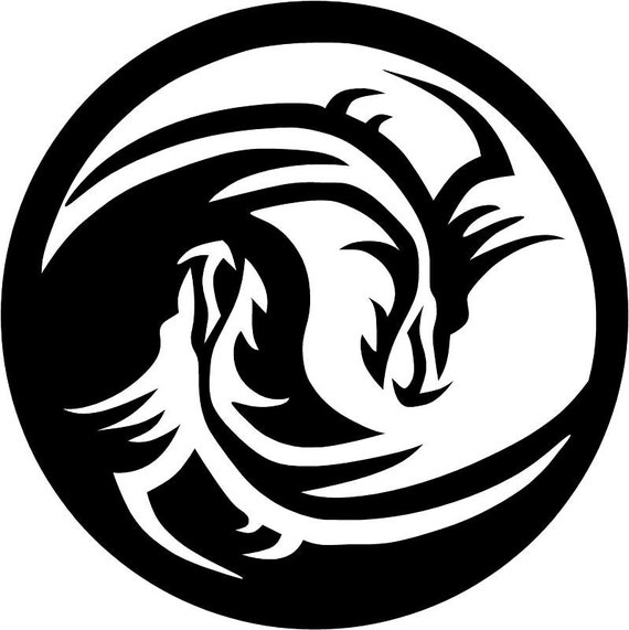 Coloring pages of dragons with yin and yang pictures to for Ying yang coloring pages