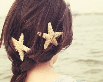 Starfish Hair Barrette, Starfish Hairclip, Mermaid Accessories, Beach Weddings