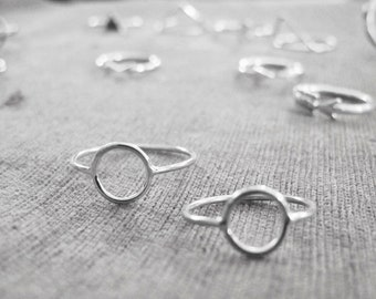Silver Circle Ring - Thin Band, Silver Jewelry, Eternity Circle
