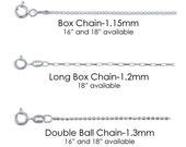 Add on Sterling Silver Chain- 18""