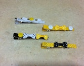 Yellow Black and White Hair Clips