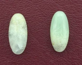 2 - 20x9 oval prehinite jade cabochon gem gemstone