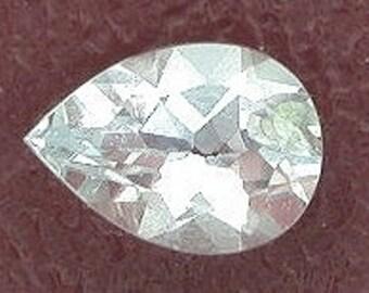 7x5 pear light blue aquamarine gem stone gemstone