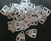 Antique Silver House Charms 25 pieces