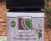 Organic Facial Moisturizing Cream - Lavender Peppermint (Travel size)