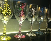 Wedding party gift- personalized glasses