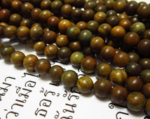 108pc  Green sandalwood  Verawood  Tibetan prayer loose wood round beads,6mm