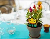 Mario fireflower // Plant Stake - déco à piquer pour plante