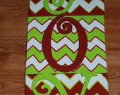 JOY Christmas Chevron  canvas