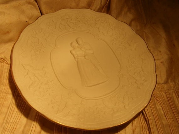 Lenox Wedding Gifts: Lenox Wedding Promises Bridal Plate Gold Trim By