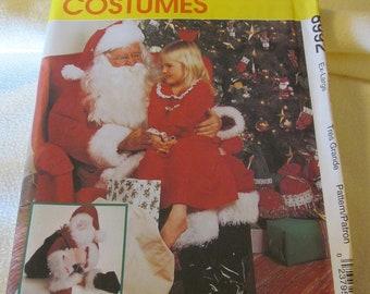McCall's UNCUT Santa Costume Pattern 8992 Misses or Mens Size Ex-Large