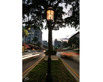 Las Olas Blvd Downtown city of Fort Lauderdale night photo 8x12 fine art photography print