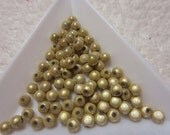 Gold Glowing Miracle Beads, Plastic 3mm 80 Cnt
