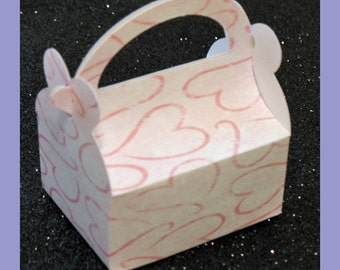 Heart party favor box, Heart birthday favor box, Heart anniversary favor box, Heart wedding favor box, heart bridal shower favor box