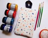 Beat the Heat Potholder // Fabric Paint // Handmade // Holiday Gift under USD15 :)