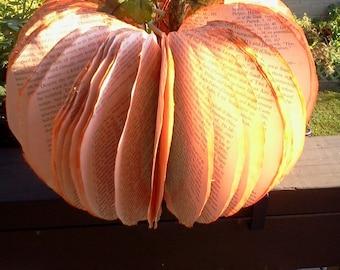 EXTRA LARGE Vintage  Pumpkin,Special Edition Pumpkin,  pumpkin, Halloween,centerpiece, home decor, fall  decor, books, book pumpkin