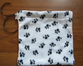 Paw Print Fleece Reusable Gift Wrap - Fabric Bag for Favorite Pet
