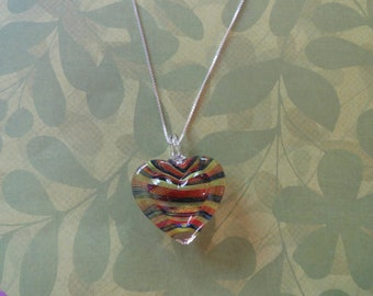 Glass heart pendant 50% off