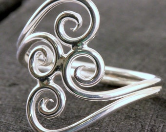 Scroll Ring Double