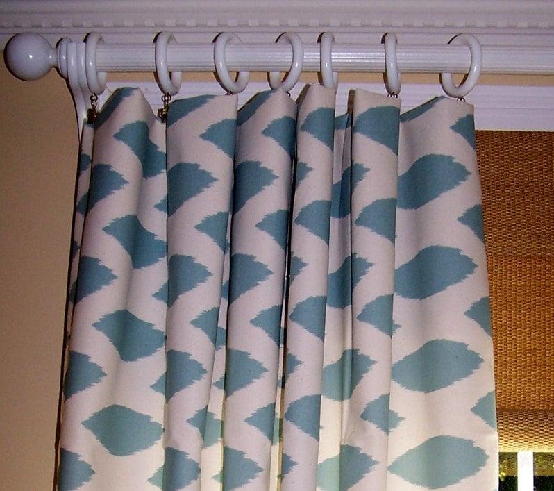 Light Blue Curtains Blue Curtains Premier Fabric Custom