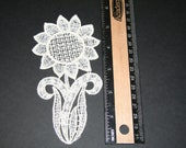 free standing lace, sunflower