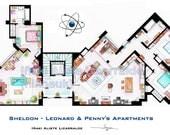 Sheldon-Leonard + Penny's Apartments from BIG BANG THEORY