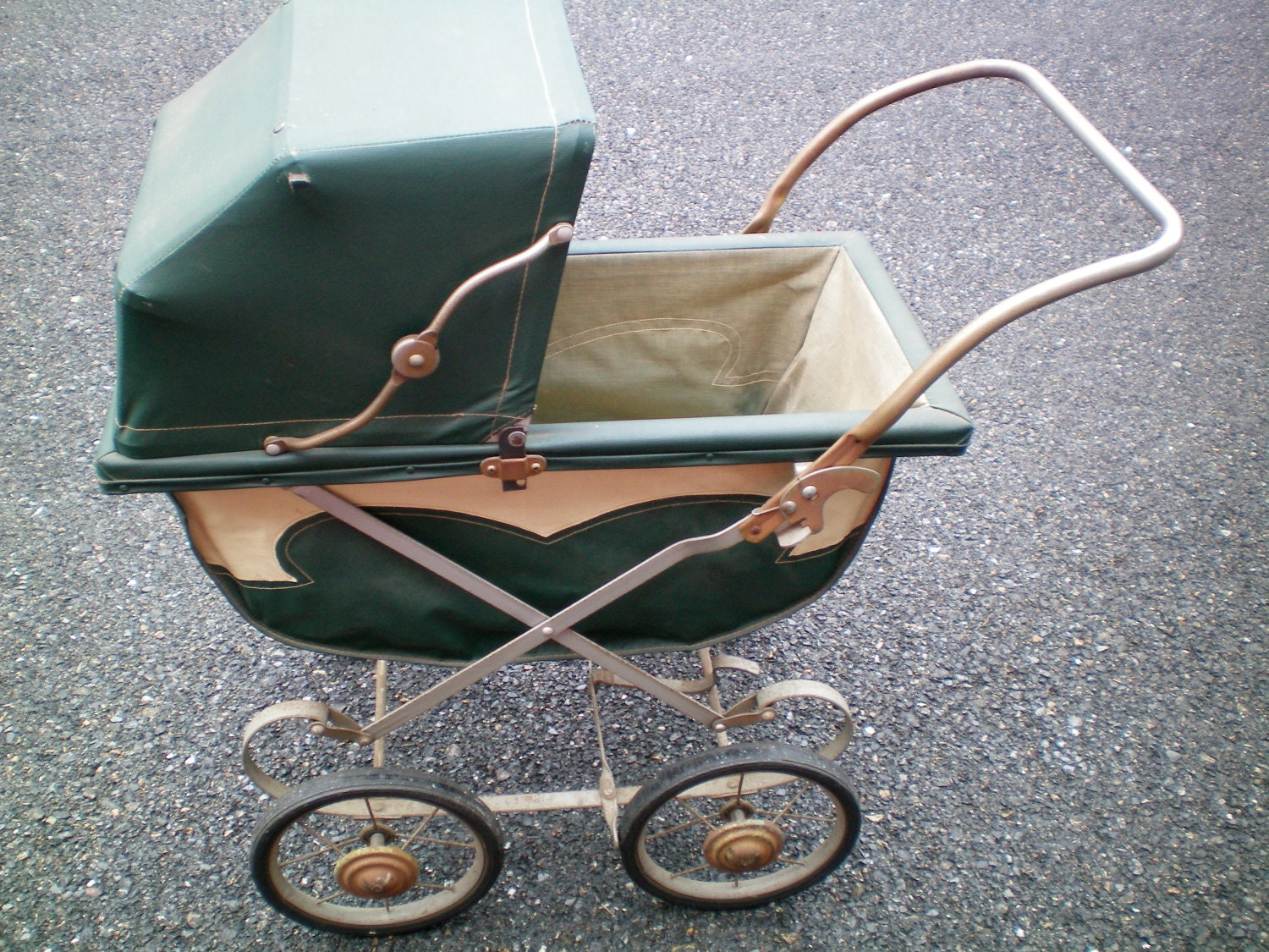 Items similar to early 1900's Antique Baby Stroller Carriage on Etsy