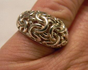Wonderful Timeless Classic Fun Fashion 925 Sterling Silver Bizzantine Ring Size 6 #3364