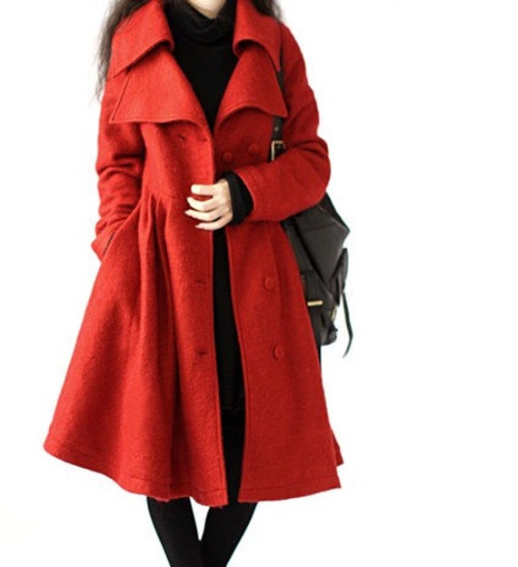 Red / Coffee Grid  classic flight tweed women coat women dress coat with belt Spring Autumn Winter--CO034