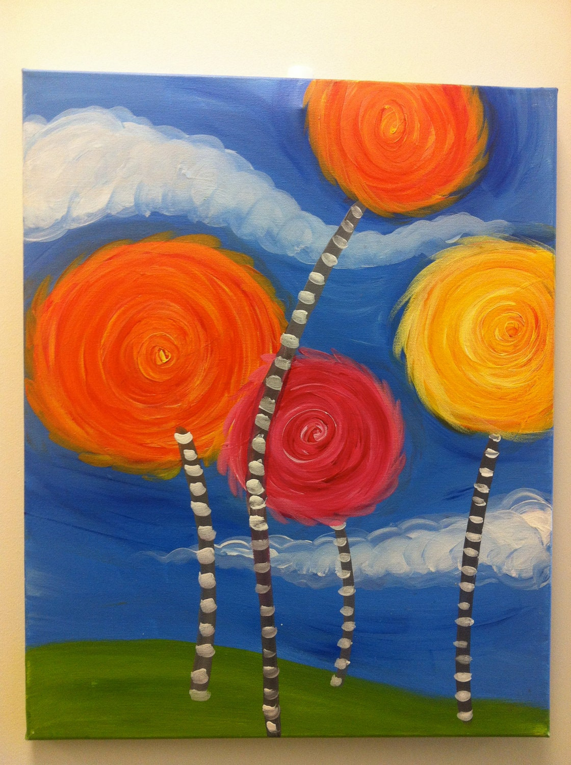 The Lorax Truffula Trees Painting Lorax truffula trees by