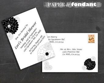 PRINTABLE INVITATION SET - Classy Black & White