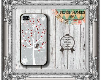 Winter Tree iPhone Case, Holiday iPhone Case, Christmas Phone Case, iPhone 4,4s, iPhone 5, 5s, 5c, iPhone 6, 6 Plus, Phone Cover, Phone Case