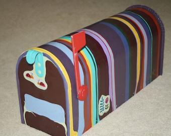 Striped Mailbox
