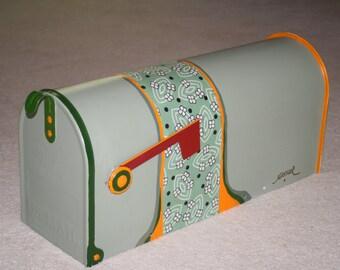Green Orange Mailbox