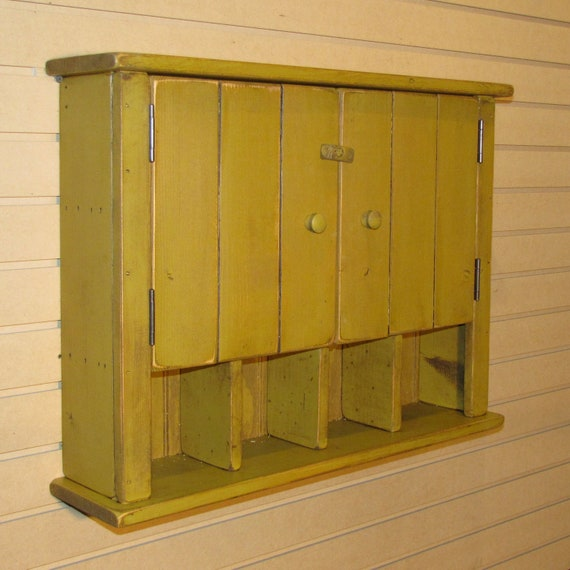 Rustic Primitive Cottage Wall Cabinet Color Choice
