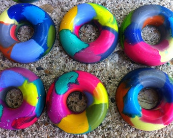 Large Multi-color Donut Crayons