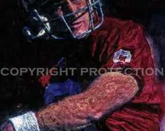 Rare Steve Young S. F. 49ers Art Print only 50 11x18