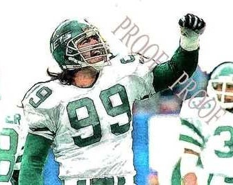 Mark Gastineau New York Jets Rare Art 12x18 LE 50